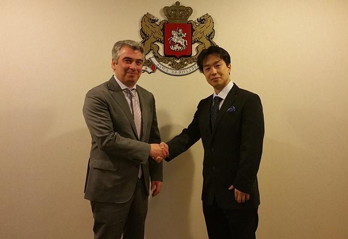 日本駐在ジョージア全権特命大使 レヴァン・ツィンツァゼ氏